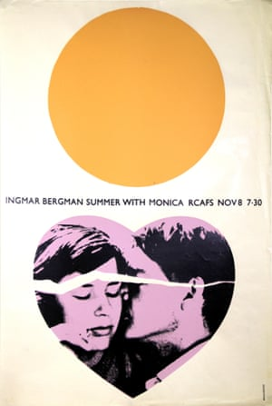 RCA Film Society Poster for Summer with Monica by Brian Denyer,1964.