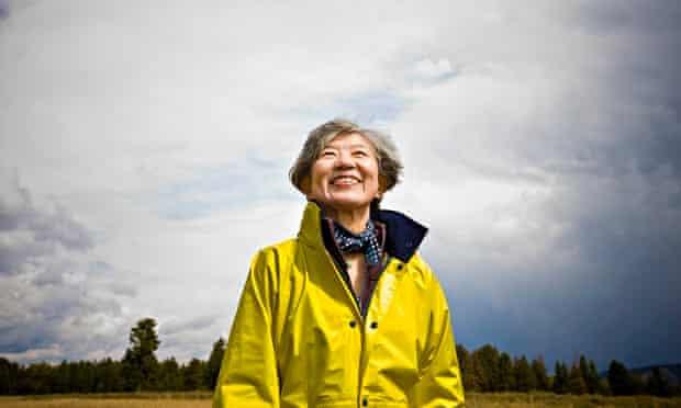 Happy older Japanese woman