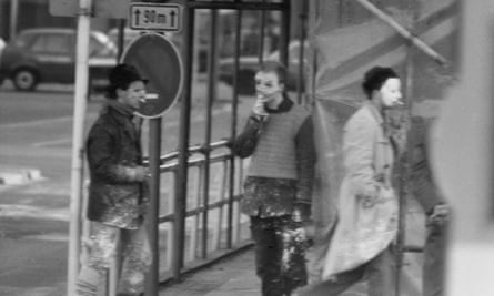 A Stasi surveillance photograph of the artists