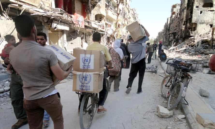 aid arrives in syria