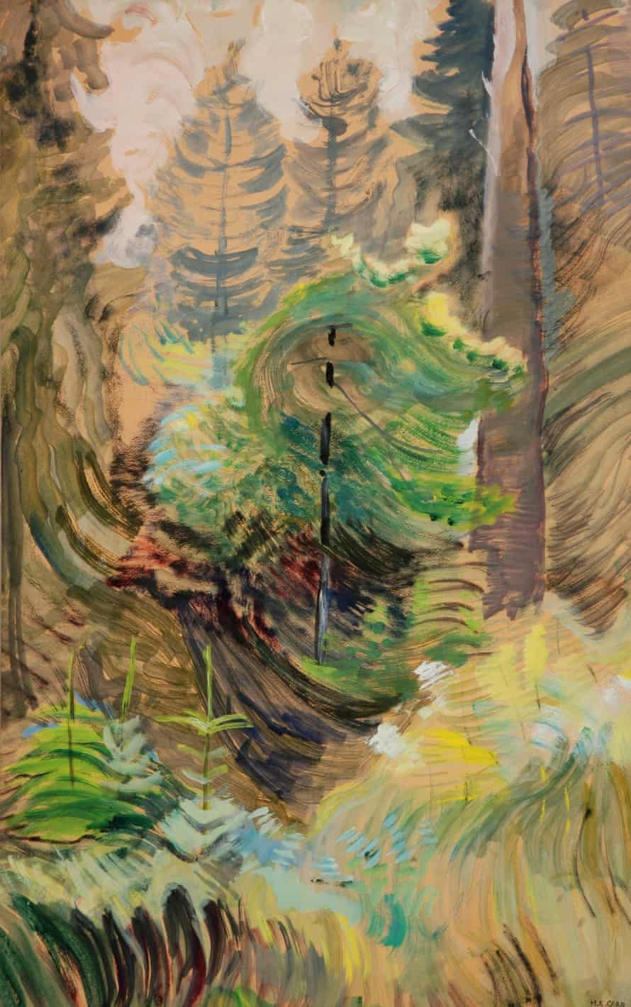 Windswept Trees, c1937-38 by Emily Carr.
