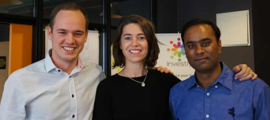 Siim Maivel, Ruth Chamberlain and Vishal Sahu worked together remotely for a year before meeting in person last autumn.