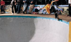 Skateboarder at Livingston, near Edinburgh