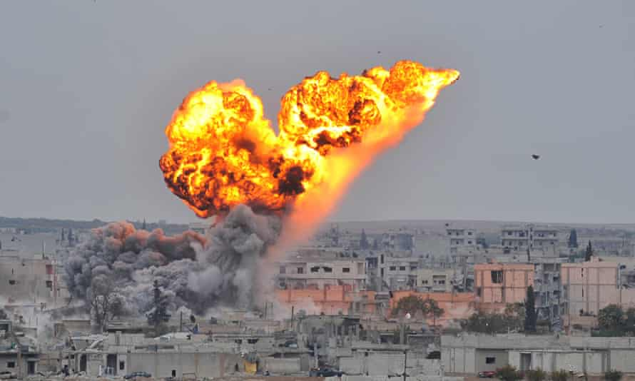 US-led coalition forces hit ISIL targets in Kobani
