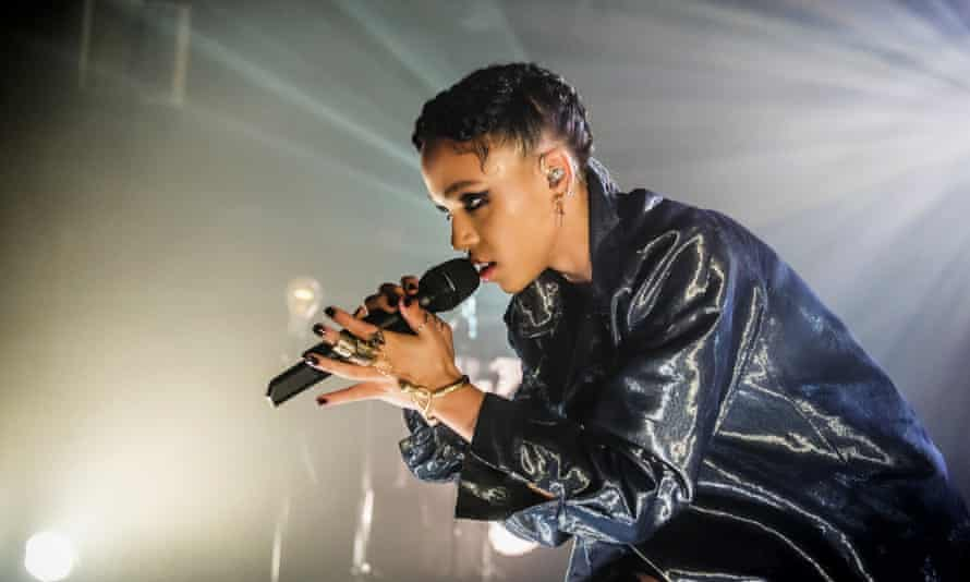FKA twigs performs on stage at Tolhuistuin in Amsterdam, Netherlands.