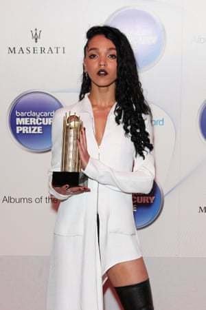 FKA twigs at the 2014 Mercury prize awards in London.
