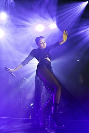 FKA twigs performs during a concert in Berlin, Germany.