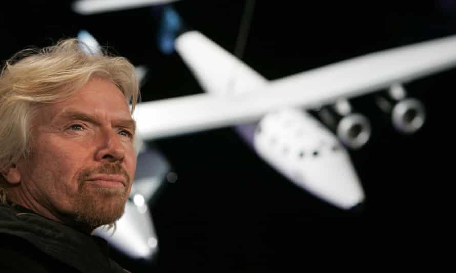 Richard Branson, the founder of Virgin Galactic.