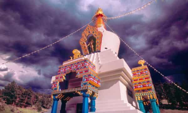 Great Stupa of Dharmakaya Shambhala Mountain Centre in Colorado, where Ashoka Mukpo was raised