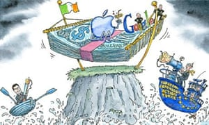 Dave Simonds cartoon on tax avoidance by technology companies