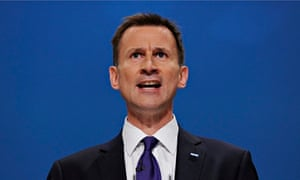 Health secretary Jeremy Hunt says the NHS cannot afford to give all staff a 1% pay rise.