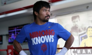 Pacquiao during a training session.