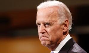 Vice President Joe Biden bites his lip