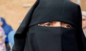 A woman wears the Niqab at Lakemba mosque during the Muslim holiday of Eid al-Adha.