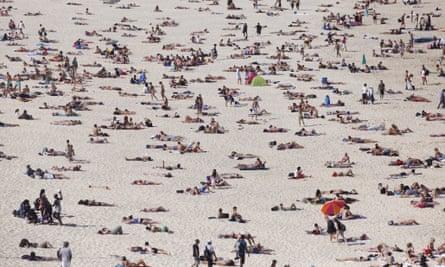 Bondi beach sunbathers