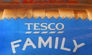 Tesco's own brand loaf of bread