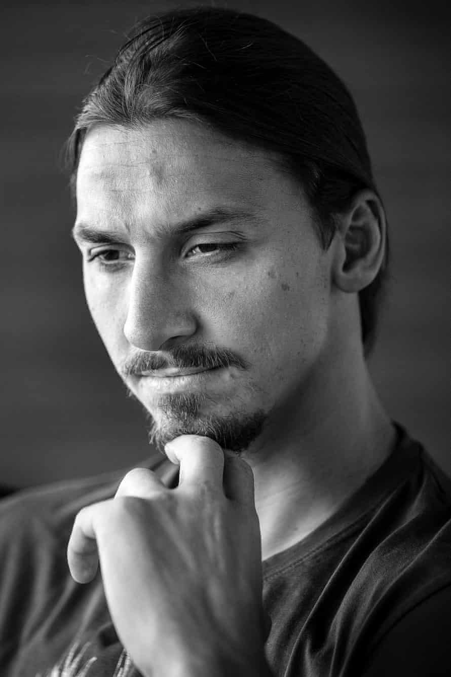 Zlatan Ibrahimovic poses for a portrait at the Paris St Germain training centre in St Germin-en-Laye.