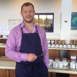 Giles Oakley, a tea taster and buyer with Tetley