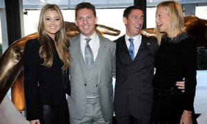 Nick and Christian Candy with their wives