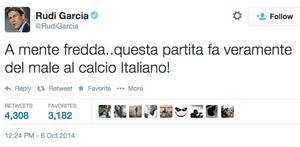 Rudi Garcia's tweet