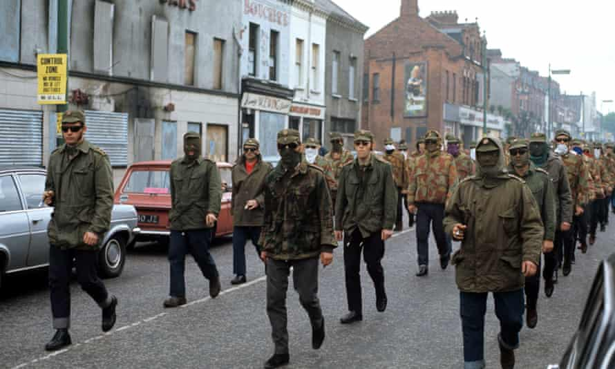 A Protestant UDA parade in Belfast