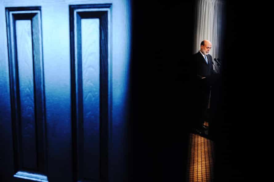 US Money Ben Bernanke door