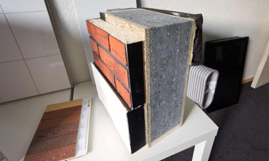 Materials used for wall isolationin renovated houses by Dutch  Energiesprong in Arnhem