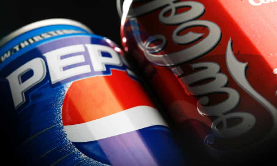 can of pepsi and cola
