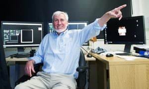 Professor John O' Keefe at his laboratory in University College London after hearing that he had won the Nobel Prize in Physiology or Medicine.