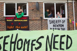 Focus E15 Mothers occupy flats on the Carpenters Estate.