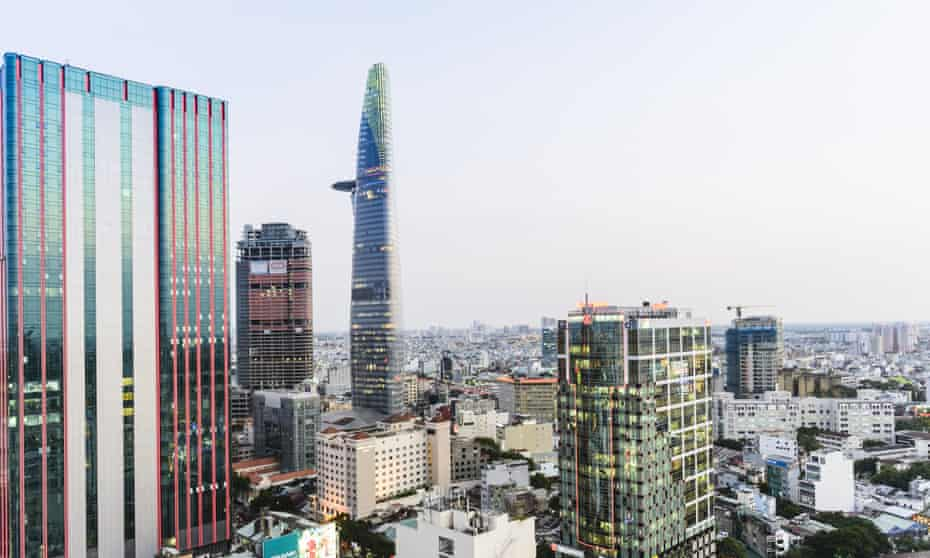 The Bitexco tower and Ho Chi Minh skyline.