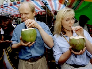 The then Conservative party leader William Hague, with Ffion Jenkins at the Notting Hill carnival in 1997.