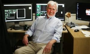 Nobel prizewinner Professor John O'Keefe in his laboratory at University College London.