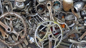 Old bicycle parts