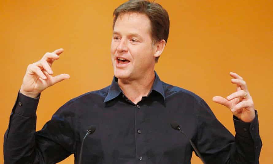 Nick Clegg lib dem conference