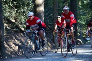 Cyclists on L'Eroica