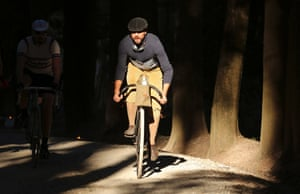 Cyclist at L'Eroica