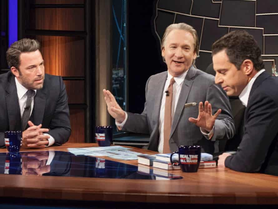 Bill Maher with Ben Affleck and Sam Harris.