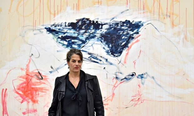 Tracey Emin at her show The Last Great Adventure Is You.