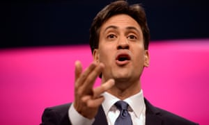 Ed Miliband giving his keynote speech at the Labour party conference