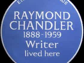 Raymond Chandler blue plaque.