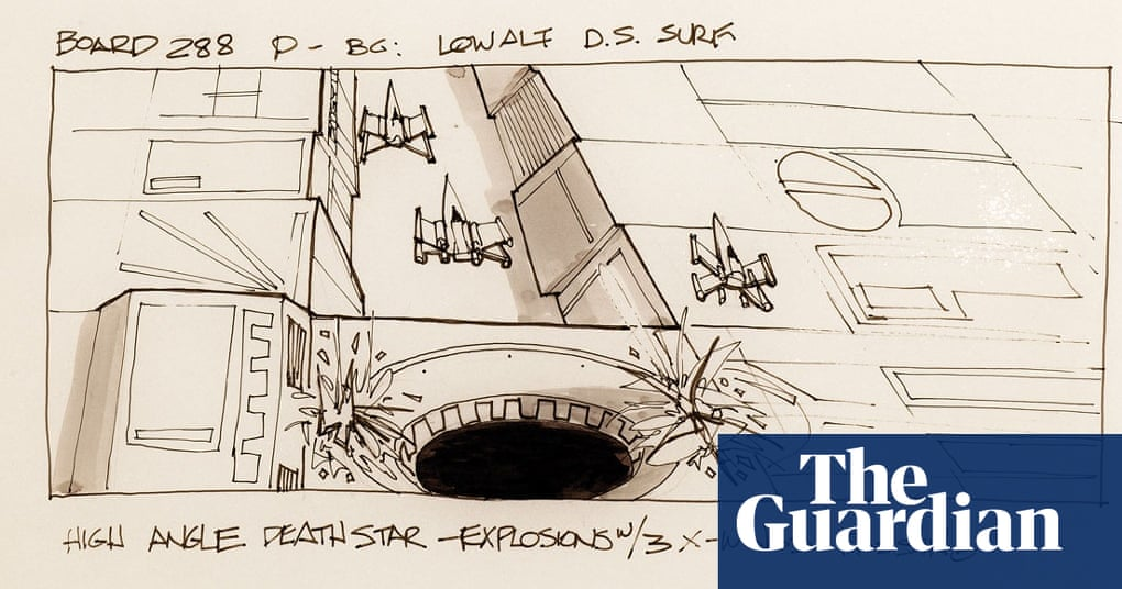 Original Star Wars Storyboards In Pictures Film The Guardian