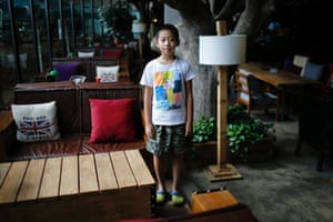 """Only child Qian Dingheng, who was born in 2005. """"I don't want [a sibling], because he would interrupt my homework,"""" Dingheng said."""