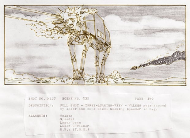 Original Star Wars storyboards - in pictures | Film | The Guardian