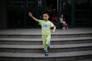 """Only child Ding Zhongcheng, who was born in 2008. """"I don't want to have older brothers or sisters or younger ones either, because I don't want them to mess up all the things in the house. If there was a chance that my mother could give birth to older siblings, then I would accept it,"""" Zhongcheng said."""