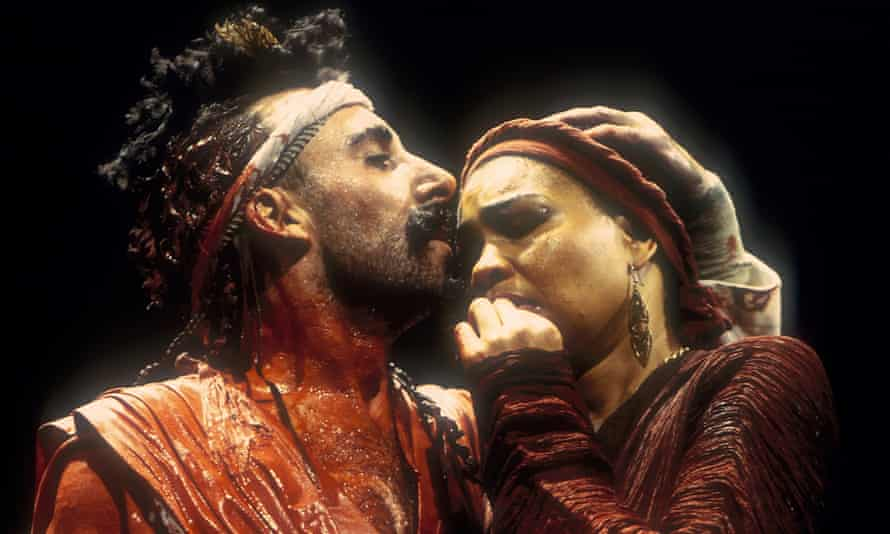 Mighty lines ... Antony Sher as Tamburlaine and Claire Benedict as Zenocrate.