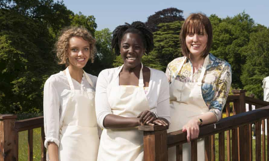GBBO series 3 finallists (from left) Ruby Tandoh, Kimberley Wilson and Frances Quinn