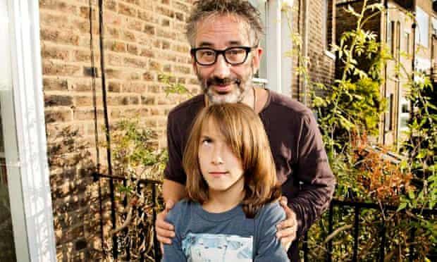 David Baddiel and his son Ezra for Family