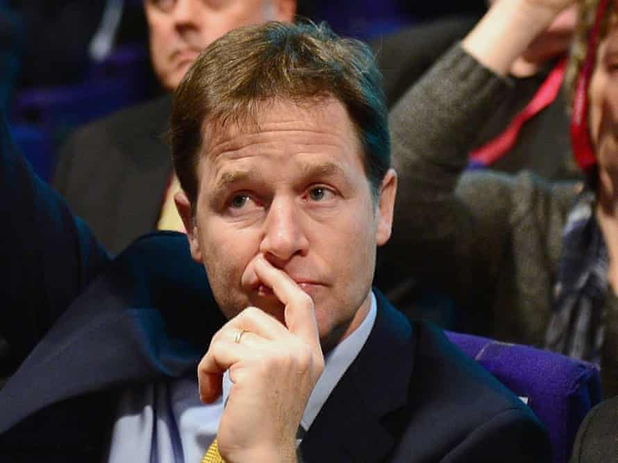 Vote was a rebuff for deputy prime minister Nick Clegg.