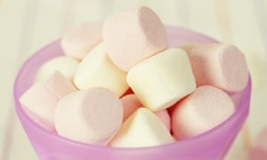 A bowl of marshmallows